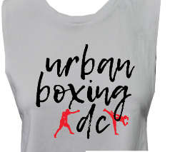 Urban Boxing DC Crop Top - White